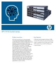HP V1910 Switch Series - US English (A4)