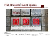 Work Meet Connect Hub Brussels Event Spaces - VisitBrussels