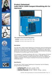 Product Datasheet: Coltri-MCH-11EM-Compact-Breathing-Air ...