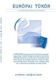 Európai Tükör 2010/01. szám