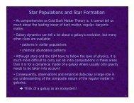 Star Formation, Milky Way stellar luminosity function - University of ...
