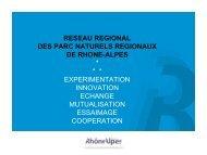 Les Parcs naturels régionaux en Rhône-Alpes : un ... - Euromontana