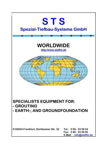 Selected reference projects - STS Spezial-Tiefbau-Systeme GmbH