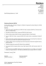 Stock_exchange_notification_1_ 2009.pdf - Roblon A/S