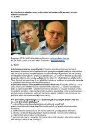 Aká je situácia vo VL, Peter Lipták, 17.3.2006 - všeobecný praktický ...