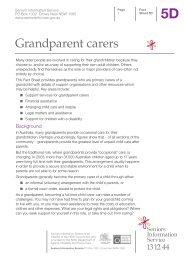 Grandparent carers - Seniors Information Service - NSW Government