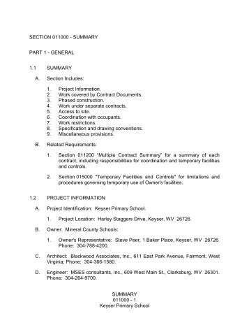 division #1 general requirements.pdf - Bid Room FTP Site for ...