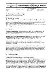 Intern godkjenning for Medisinsk og Helsefaglig ... - Ous-research.no