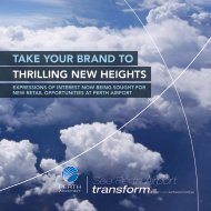 TAKE YOUR BRAND TO THRILLING NEW HEIGHTS - Perth Airport
