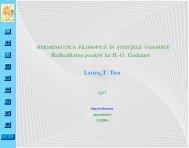 Hermeneutica filosofică în ştiinţele umaniste - Equivalences.org