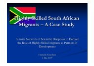 Presentation Kwankam - South Africa A case study - Cooperation at ...