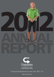 2012 Annual Financial Report - Diabetes Queensland
