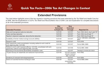 Extended Provisions - CCH