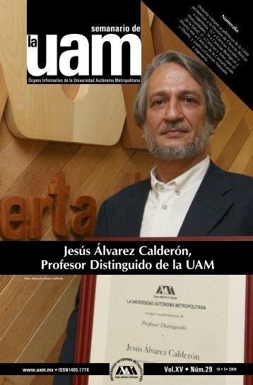 Jesús Álvarez Calderón, Profesor Distinguido de la UAM