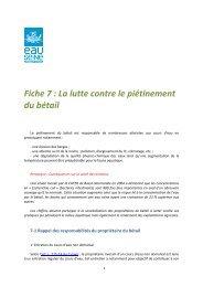 La lutte contre le piétinement du bétail - Agence de l'Eau Seine ...