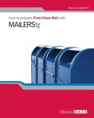 How to prepare First-Class Mail with - Melissa Data