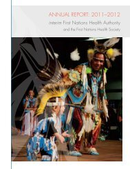 2012 iFNHA Annual Report | pdf download - First Nations Health ...