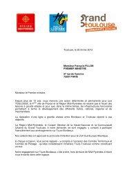 Toulouse, le 29 février 2012 Monsieur François ... - Tarbes-Infos