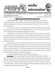 2006 Bush Award Recipients Announced - Michigan High School ...