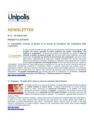 Newsletter n.11 – 18 luglio 2013 - Fondazione Unipolis
