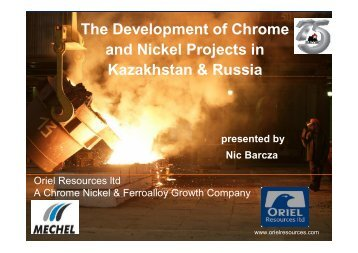 The Development of Chrome and Nickel Projects in ... - Mintek