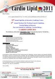 cardio lipid 2011 - Working Group for Lipidology, Vascular Biology ...