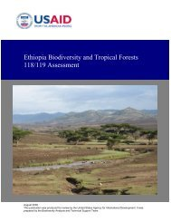 Ethiopia Biodiversity and Tropical Forests 118/119 Assessment