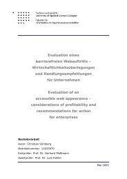 Evaluation eines barrierefreien Webauftritts - Intro