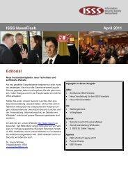 ISSS NewsFlash April 2011