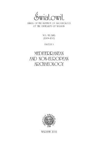 Wzor A,B-tekst - Instytut Archeologii Uniwersytetu Warszawskiego