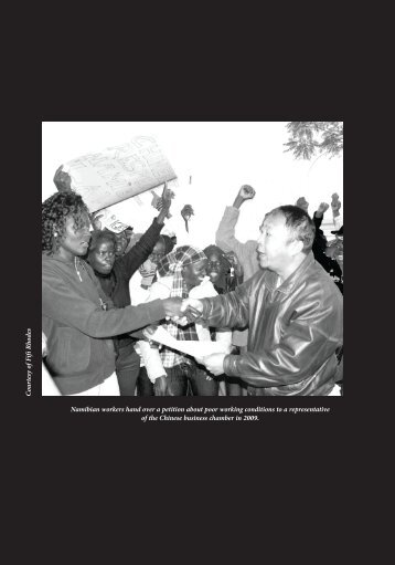 Namibian workers hand over a petition about poor working ...