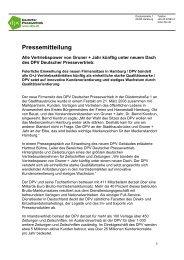 Pressemitteilung - Gruner + Jahr