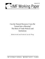 Can the Natural Resource Curse Be Turned Into a Blessing ... - IMF