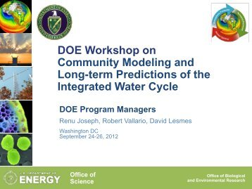 Remarks from DOE Sponsoring Program Managers - Climate and ...