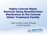 Highly Colored Water Removal Using Nanofiltration ... - WESTCAS