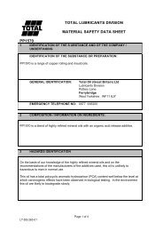 total lubricants division material safety data sheet ... - CHEMODEX Ltd