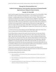 Messages clés et recommandations Conférence ... - La COMIFAC