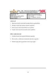 SİSTEM ANALİZİ2 - Akademik Personel Bilgi Bankası