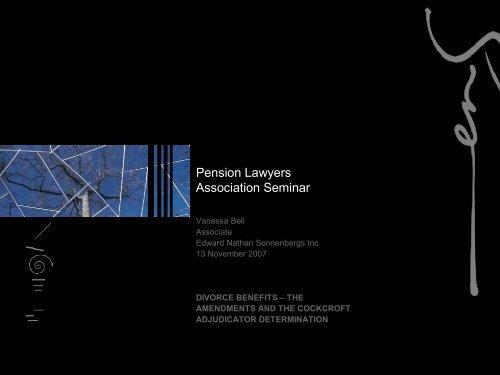 Pension Lawyers Association Seminar