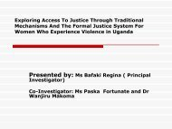 Exploring Access To Justice Through Traditional Mechanisms And The ...