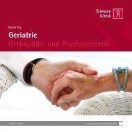 Ein Unternehmen der Gesundheitswelt Chiemgau ... - Simssee Klinik