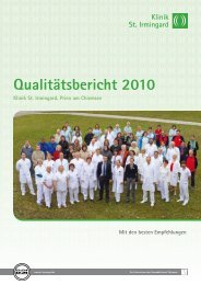 Unsere Onkologie - Klinik St. Irmingard