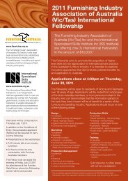 2011 Furnishing Industry Association of Australia - International ...