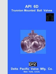API 6D Trunnion Mounted Ball Valves - Delta Pacific Valve