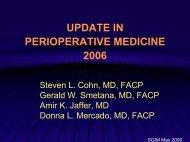 SGIM perioperative medicine power point talks