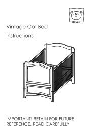 Vintage Cot Bed Instructions - Toys R Us