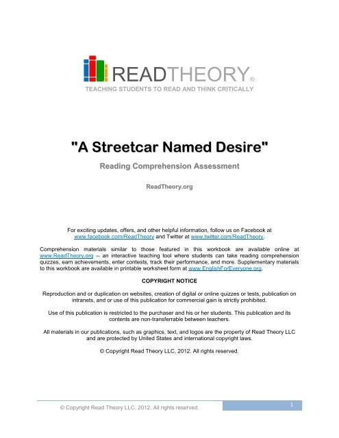 read theory answers