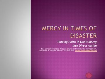 mercy in times of disaster - North Wisconsin District of the Lutheran ...