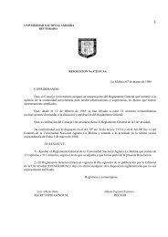 Reglamento General - Universidad Nacional Agraria La Molina