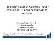 El sector salud en Colombia